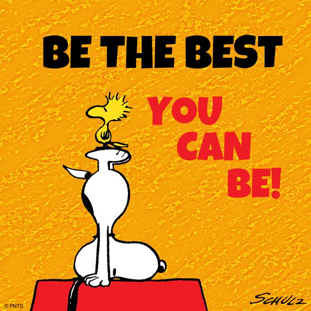 OakMonster - Be the best you can be - Snoopy