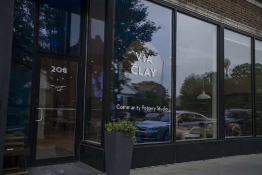 Viaclay Community Pottery Studio is pictured on Marion Street on Monday, June 22, 2020, in Oak Park, Ill. | ALEX ROGALS/Staff Photographer