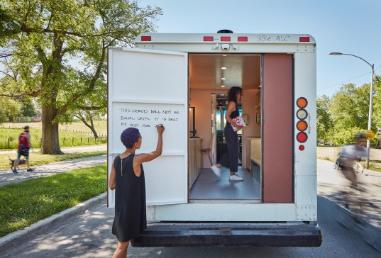 Maya Bird-Murphy, guided a team of designers, woodworkers and others in retrofitting a retired USPS delivery van into a mobile maker space. | Photo by Tom Harris