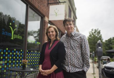 Gigi and Dave Hudson outside The Actors Garden on Lombard Avenue. | Alex Rogals/Staff Photographer