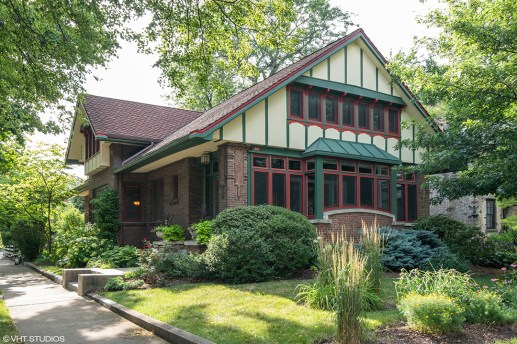 E.E. Roberts designed the home at 401 N. Cuyler Ave. for the man who served as the general contractor for many of his projects. The home retains many of the original Prairie-style details.   Courtesy VHT Studios
