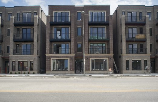 The Oak Park Edge development at 6031-35 W. North Ave. is one of three luxury rental projects OK'd for the corridor. The 18-unit development ought to be ready for occupancy later this month. | Alex Rogals/Staff Photographer