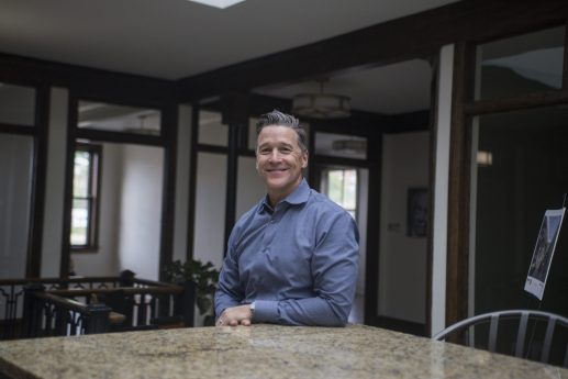 Trent Stoner jumped from a career at Bridgestone to one in real estate, establishing a business that provides flexible, shared spaces for businesses and local residents. | Alex Rogals/Staff Photographer