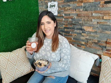 Annabelle Martinez, owner of Juice Vibe Bar, dreams of growing her business from within./Elsmo