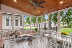 Back deck at the Keystone Avenue home.