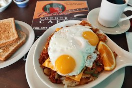 The Mexican skillet from Tastee Corner Cafe.