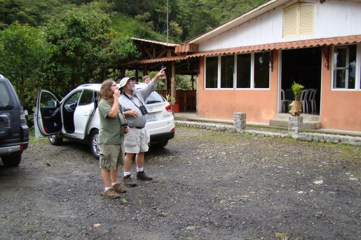 Ethan and Eric Gyllenhaal spot a bird on the wing in Costa Rica.Photos courtesy Aaron Gyllenhaal