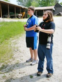 Avian avid: Aaron and Ethan spot species in Siloam Springs.