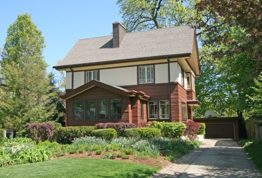 Little house on the ... : A William Drummond-built home on Keystone Avenue is one of the few Prairie Style Homes in the area that has actual prairie landscaping.