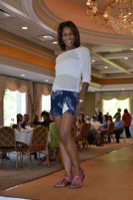 Myra Price, shorts & sweater from Muse