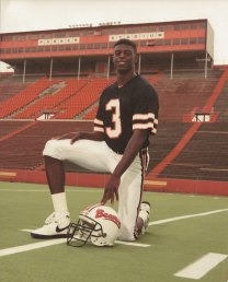 With the Oregon State University Beavers, 1988.