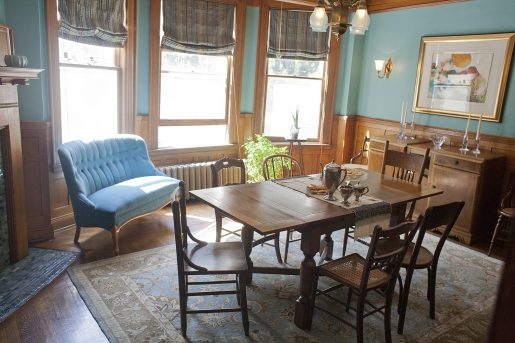 Sept. 25: The dining room at 241Home Ave., the oldest home in Oak Park. DAVID PIERINI/Staff Photographer