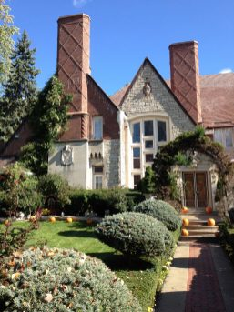 Nov. 13: The monumental fa?ade of the Grunow/Accardo mansion is asymmetrically composed in the English Tudor style, displaying unusual craftsmanship. Photo by Garret Eakin