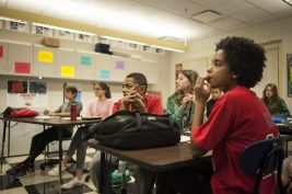 Students at Gwendolyn Brooks Middle School in Oak Park learn about mental illness and the stigma of the disease. WILLIAM CAMARGO/Staff Photographer