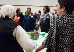 (Center)Michelle Collins, ABC Bank.   JENNIFER LACEY/Contributor
