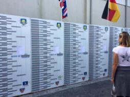 Division brackets with full draws at the Eddie Herr International Junior Championships at the IMG Academy in Bradenton, Fla. (Courtesy Luka Bagos)