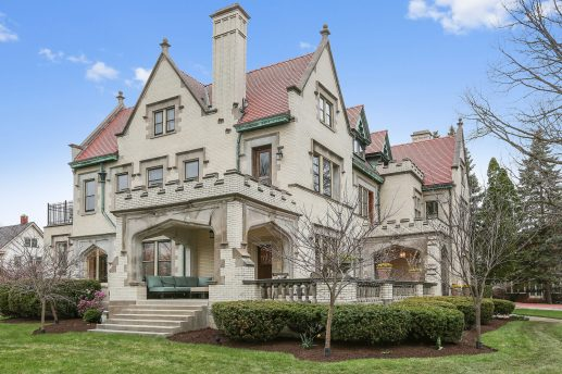 A LIMESTONE MANSION: Pinnacles, quoins and fireplaces galore, plus a curious and diverse history. | Courtesy of Coldwell Banker