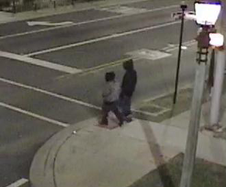 Still shot from the River Forest police video surveillance system