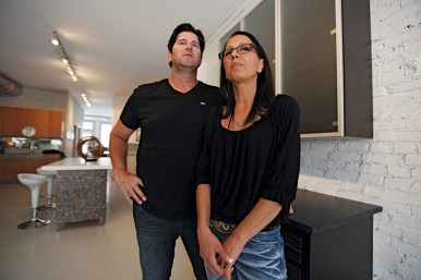 Show time: Joe and Karen Santelli have a new showroom on Lake Street in River Forest for their business, Santelli Custom Cabinetry, where they allow non-profit organizations to hold events for free after hours.Photos by J. GEIL/Staff Photographer