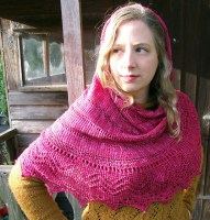 Knit knot: Dozens of designers are claiming their patterns were sold by Fiberista Club without their permission. Aiobhe Ni, a designer from County Meath, Ireland, said her Nova shawl design (pictured) was sent to Fiberista Club members without her consent or payment in February of 2017.