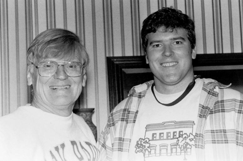Richard Gloor Sr. (left) with his son Richard Gloor Jr. of Gloor Realty.   File photo