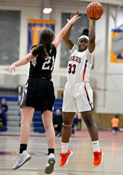 OPRF guard Ahsha Spencer leads the Huskies in points, rebounds, steals and blocks this season. (File photo)
