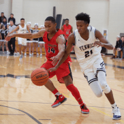 Fenwick sophomore DJ Steward, one of the premier players in the state, will need to play at a high level if the Friars hope to win the stacked Riverside-Brookfield Sectional in the upcoming Class 4A state playoffs. (Photo by Ian McLeod)