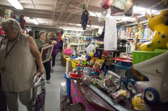 Shoppers walk through the Toy Department at the Economy Shop, located at 103 S. Grove Ave., Oak Park. | ALEXA ROGALS/Staff Photographer