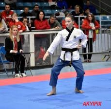 Carissa Westman fared very well (Top 8) in individual poomsae at Nationals. (Photo by akyipix)