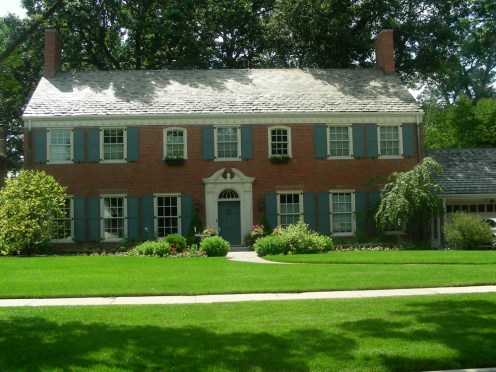 Posh living: The home at 814 Franklin, once featured on the television program HGTV, is one of the few Williamsburg Colonials in the area.
