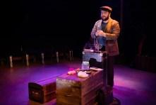 Jack Morsovillo in Strawdog Theatre Company's production of HERSHEL AND THE HANUKKAH GOBLINS. Photo by Jesus J. Montero.