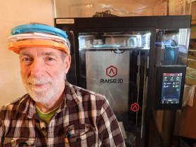 Donald Ingram (above) is another 3D printer for Parks' group (photo provided by Rob Parks).