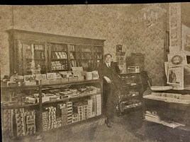 Henry Pieritz in the store's first location at Laramie Avenue and Lake Street, circa 1890s. |Photo provided by Deborah Pieritz