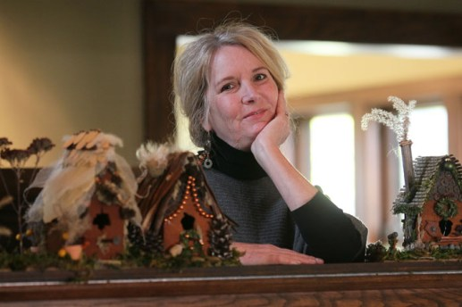 NATURAL ART: Karen Gubitz decorates for the holidays with her own designs, made of natural materials. Her home will be featured on the Oak Park River Forest Infant Welfare Society Holiday Housewalk.