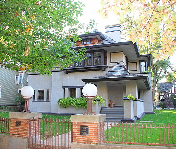 Edward R. Hills home at 313 Forest Avenue. Frank Lloyd Wright architected home was built in 1906.