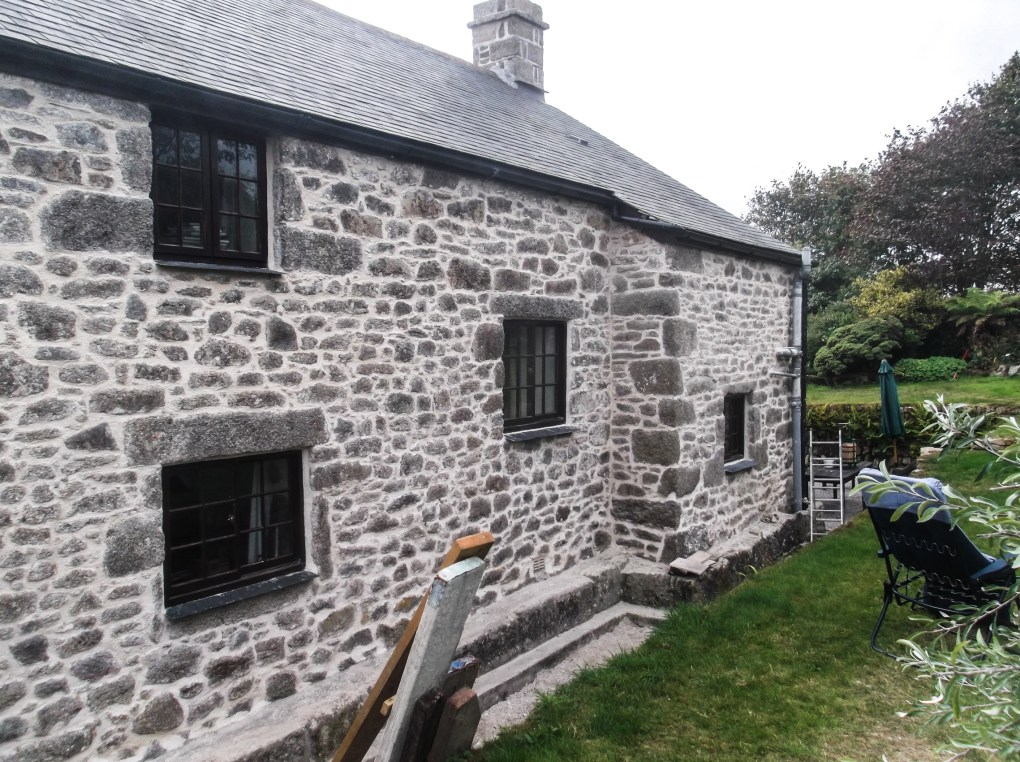 Lime Rendering On Grade 11 Listed Building Helson Cornwall