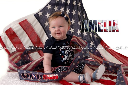 baby with flag