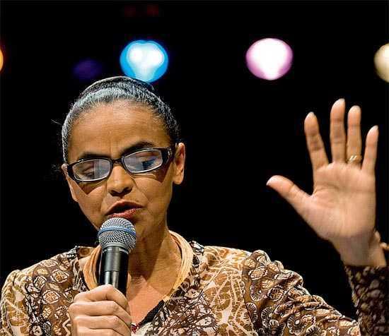Marina Silva, no evento em São Paulo em que anunciou a saída do PV - Marlene Bergamo - 7.jul.2011/Folhapress