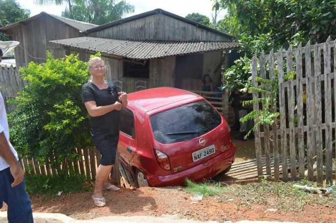 Dona Ana teria se confundido com os pedais na hora em descia a ladeira - Foto: Thay Tavares