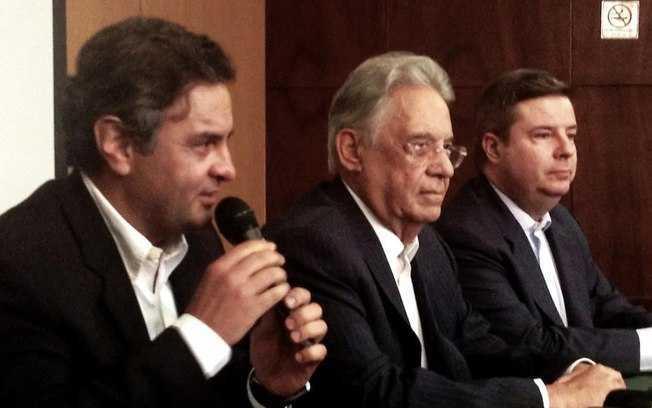 FHC participou de evento promovido pelo PSDB mineiro em Belo Horizonte ao lado de Aécio e de Anastasia - Divulgação