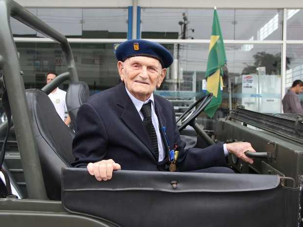 Anselmo Bertoldi atuou na Força Expedionária Brasileira durante a Segunda Guerra Mundial (Foto: Fundação Cultural JS/Divulgação)
