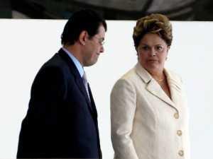 Dilma e senador Eduardo Braga Gustavo Miranda/27.06.2012
