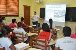 Estudantes recebem oficina do Detran sobre educação no trânsito (Foto: Assessoria Detran)