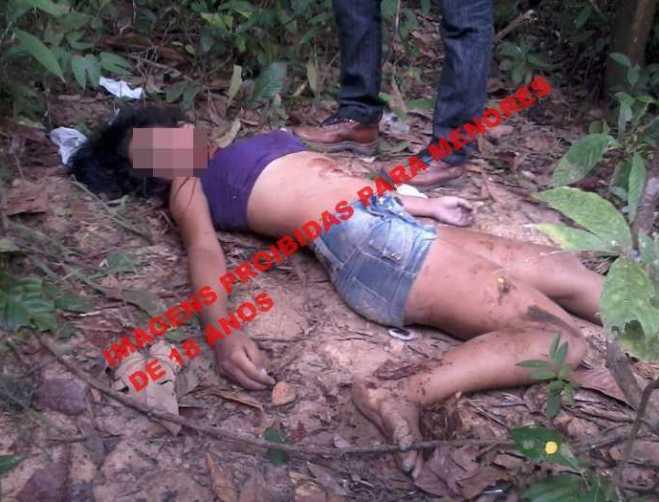 O corpo da jovem Nayara foi encontrada com 4 perfurações, provalvemente de faca (Foto:Lente ACPURUS)