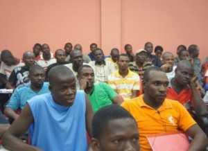 Cerca de 800 imigrantes estão sendo assistidos no abrigo mantido pelo governo do Estado, juntamente com o governo federal, com o apoio da Sejudh e da Secretaria de Desenvolvimento Social (Seds) (Foto Assessoria Sejudh)
