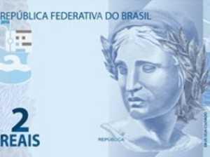 Cédula de R$ 5 da nova família do real -  Divulgação