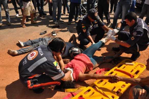 Passageira foi encaminhada ao Pronto Socorro/Foto: Selmo Melo/Agência ContilNet