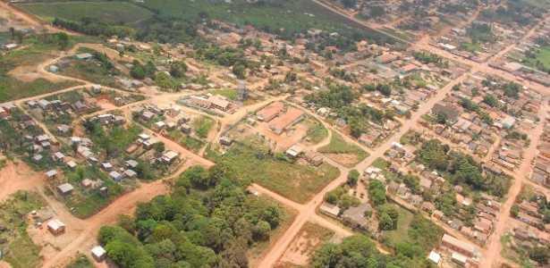 Vista área do município de Pacajá, localizado às margens da transamazônica no sudoeste paraense