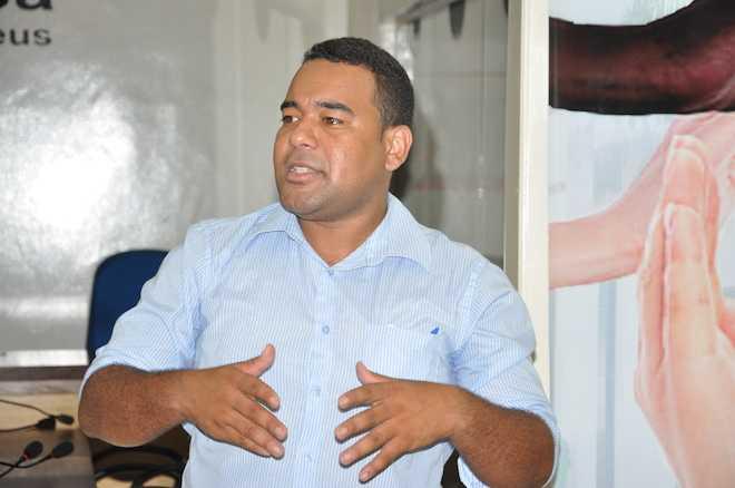 Vereador Joelso Pontes durante apresentação de sua prestação de conta - Foto: Alexandre Lima