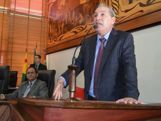 No Acre, para uma audiência de conciliação, o diretor da Telexfree Carlos Costa disse ter sido 'usado por Deus' para montar Telexfree (Foto: Caio Fulgêncio/G1)